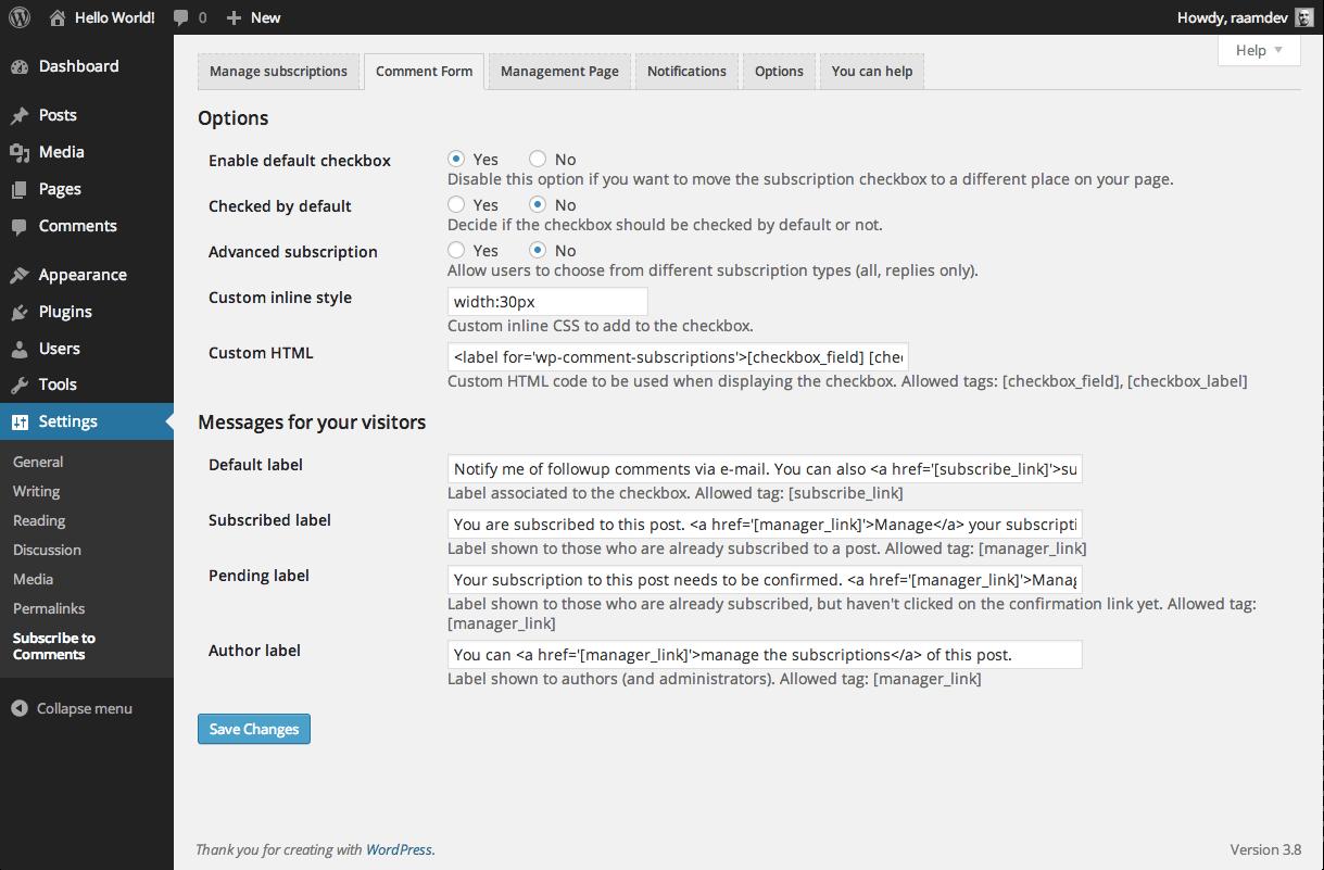 WordPress Yoruma Abonelik Eklentisi