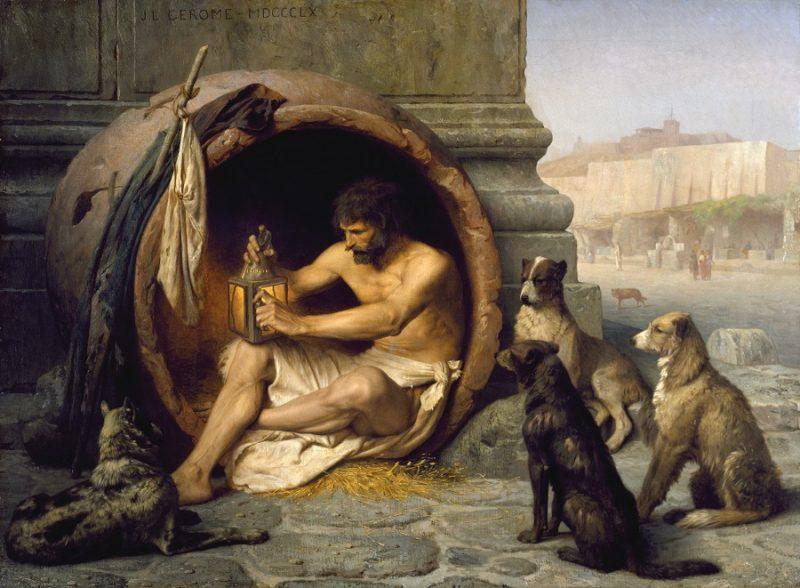 Jean-Léon_Gérôme_-_Diogenes_felsefe_yapmak_diyojen_köpekçilik_kinikler