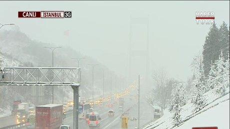 İstanbul'da kar yağışı – Video