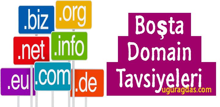 Boşta ki Domainler – Bir çok kategoride