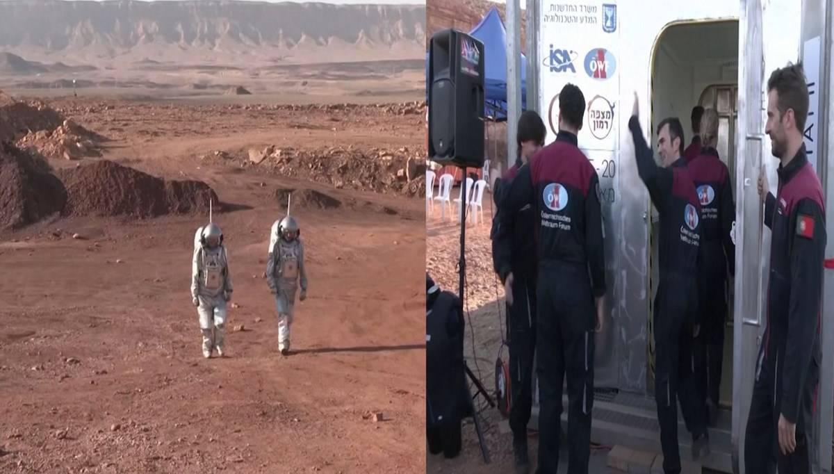Çölün ortasında Mars'ta yaşam provası