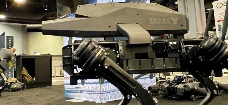 Robot köpeğe sniper silahı monte edildi